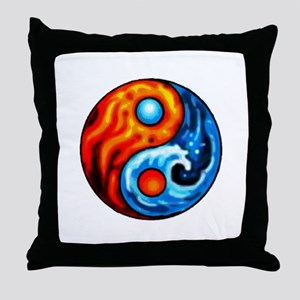 FIRE - WATER YIN - YANG Throw Pillow